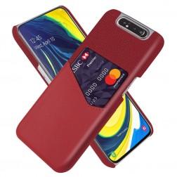 """""""KSQ"""" Shell ādas apvalks - sarkans (Galaxy A80)"""
