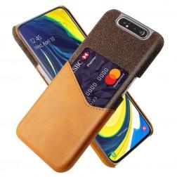 """""""KSQ"""" Shell ādas apvalks - brūns (Galaxy A80)"""