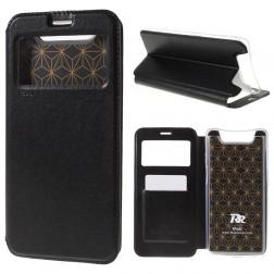 """""""Roar"""" atvēramais ādas maciņš - melns (Galaxy A80)"""