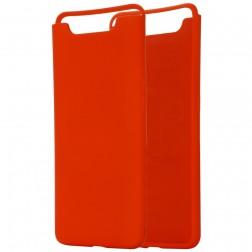 """Shell"" cieta silikona (TPU) apvalks - sarkans (Galaxy A80)"