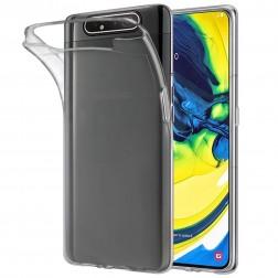 Cieta silikona (TPU) apvalks - dzidrs (Galaxy A80)