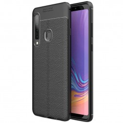 """FOCUS"" cieta silikona (TPU) apvalks - melns (Galaxy A9 2018)"