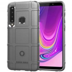 """""""Square"""" Grid cieta silikona (TPU) apvalks - pelēks (Galaxy A9 2018)"""
