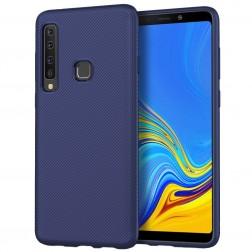 """""""Twill"""" cieta silikona (TPU) apvalks - zils (Galaxy A9 2018)"""