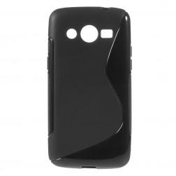 Cieta silikona futrālis - melns (Galaxy Core LTE)