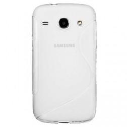 Cieta silikona futrālis - dzidrs (Galaxy Core LTE)
