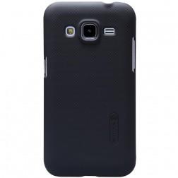 """Nillkin"" Frosted Shield apvalks - melns + ekrāna aizsargplēve (Galaxy Core Prime)"