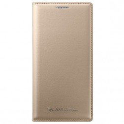 """Samsung"" Flip Wallet Cover atvērams maciņš - zelta (Galaxy Grand Prime)"