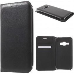 """""""Smart Wallet"""" atvēramais ādas maciņš - melns (Galaxy J1 2016)"""