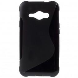 Cieta silikona futrālis - melns (Galaxy J1 Ace)