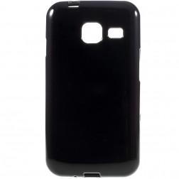 Cieta silikona (TPU) apvalks - melns (Galaxy J1 mini)