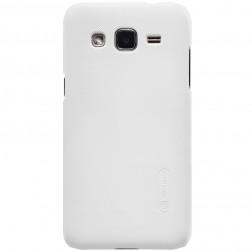 """Nillkin"" Frosted Shield apvalks - balts + ekrāna aizsargplēve (Galaxy J2)"
