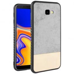 """""""Bi-Color"""" Splicing ādas apvalks - pelēks / smilšains (Galaxy J4+)"""