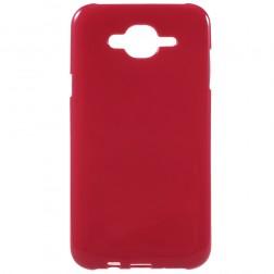 Cieta silikona (TPU) apvalks - sarkans (Galaxy J7 2015)