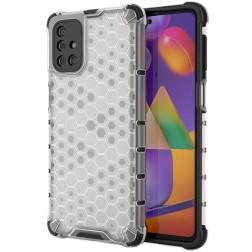 """""""Honeycomb"""" pastiprinātas aizsardzības apvalks - dzidrs (Galaxy M31s)"""