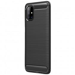 """Carbon"" cieta silikona (TPU) apvalks - melns (Galaxy M51)"