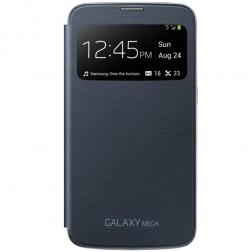 """Samsung"" S View Cover atvērams maciņš - melns (Galaxy Mega 6.3)"
