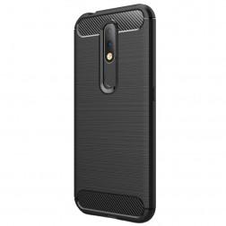 """""""Carbon"""" cieta silikona (TPU) apvalks - melns (Nokia 4.2)"""