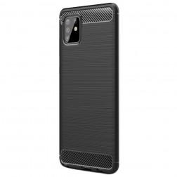 """Carbon"" cieta silikona (TPU) apvalks - melns (Galaxy Note10 Lite)"
