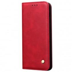 """Deluxe"" atvēramais maciņš - sarkans (Galaxy Note10 Lite)"