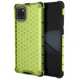 """""""Honeycomb"""" pastiprinātas aizsardzības apvalks - dzeltens (Galaxy Note10 Lite)"""
