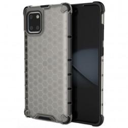 """""""Honeycomb"""" pastiprinātas aizsardzības apvalks - pelēks (Galaxy Note10 Lite)"""