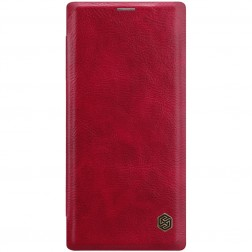 """Nillkin"" Qin atvēramais maciņš - sarkans (Galaxy Note 10)"