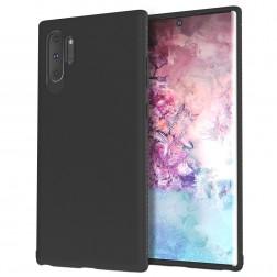 """Lenuo"" cieta silikona (TPU) apvalks - melns (Galaxy Note 10+)"