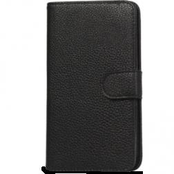 """Lychee"" atvēramais futrālis - melns (Galaxy Note 2)"