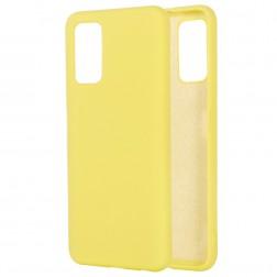 """Shell"" cieta silikona (TPU) apvalks - dzeltens (Galaxy Note 20)"