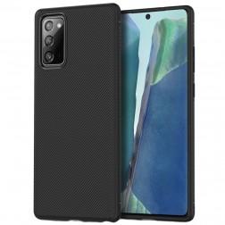 """""""Jazz"""" cieta silikona (TPU) apvalks - melns (Galaxy Note 20)"""