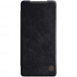 """Nillkin"" Qin atvēramais maciņš - melns (Galaxy Note 20)"