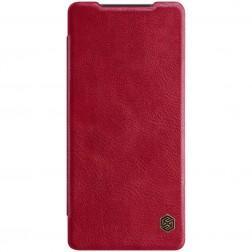 """Nillkin"" Qin atvēramais maciņš - sarkans (Galaxy Note 20)"