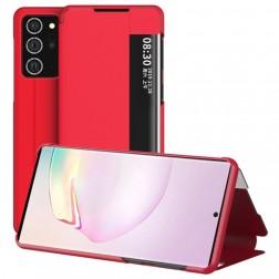"""""""View Line"""" atvērams maciņš - sarkans (Galaxy Note 20 Ultra)"""