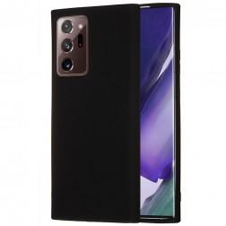 """Shell"" cieta silikona (TPU) apvalks - melns (Galaxy Note 20 Ultra)"