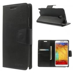 """""""Mercury"""" Sonata atvērams maciņš - melns (Galaxy Note 3 Neo)"""