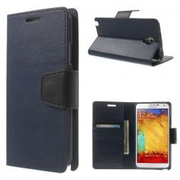 """""""Mercury"""" Sonata atvērams maciņš - zils (Galaxy Note 3 Neo)"""
