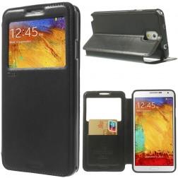 """""""Roar"""" Noble atvēramais futrālis - melns (Galaxy Note 3)"""