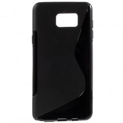 """S-Line"" cieta silikona (TPU) apvalks - melns (Galaxy Note 5)"