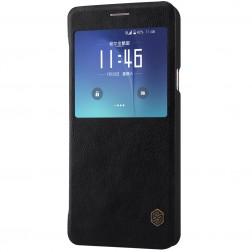 """Nillkin"" Qin atvēramais maciņš - melns (Galaxy Note 5)"
