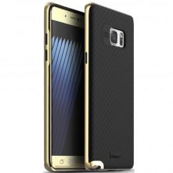 """""""IPAKY"""" cieta silikona (TPU) apvalks - melns / zelta (Galaxy Note 7)"""