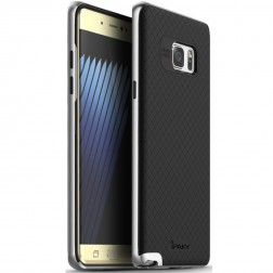 """IPAKY"" cieta silikona (TPU) apvalks - melns / sudrabs (Galaxy Note 7)"