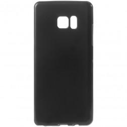 Cieta silikona (TPU) apvalks - melns (Galaxy Note 7)