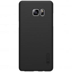 """Nillkin"" Frosted Shield futrālis - melns + ekrāna aizsargplēve (Galaxy Note 7)"