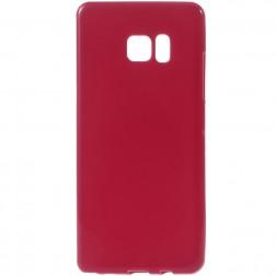 Cieta silikona (TPU) apvalks - sarkans (Galaxy Note 7)