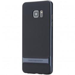 """""""Rock"""" Royce apvalks - melns apmales zilā krāsā (Galaxy Note 7)"""