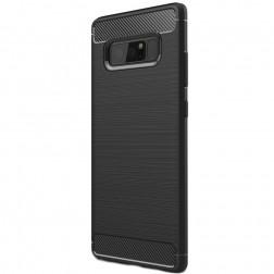 """Carbon"" cieta silikona (TPU) apvalks - melns (Galaxy Note 8)"
