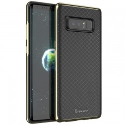 """""""IPAKY"""" cieta silikona (TPU) apvalks - melns / zelta (Galaxy Note 8)"""
