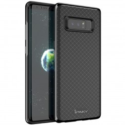 """IPAKY"" cieta silikona (TPU) apvalks - melns / peleks (Galaxy Note 8)"
