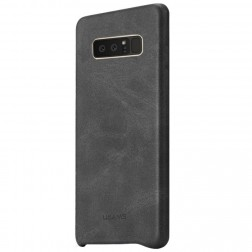 """USAMS"" Slim Leather ādas apvalks - melns (Galaxy Note 8)"